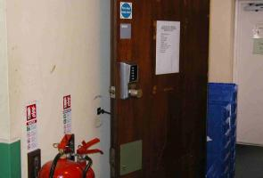 Fire Door with Cabin Hook